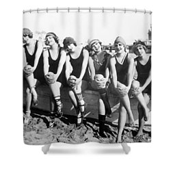 Bathing Beauties, 1916 Shower Curtain by Granger