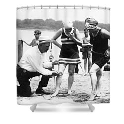 Bathing Suits, 1922 Shower Curtain by Granger