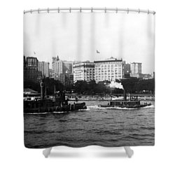 Battery Park And Lower Manhattan New York City - C 1904 Shower Curtain by International  Images