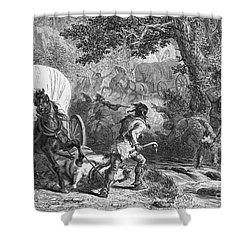 Battle Of Bloody Brook 1675 Shower Curtain by Photo Researchers
