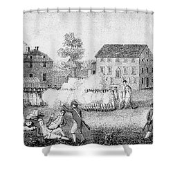 Battle Of Lexington, 1775 Shower Curtain by Photo Researchers