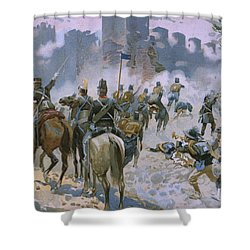Battle Of Solferino And San Martino Shower Curtain by Italian School