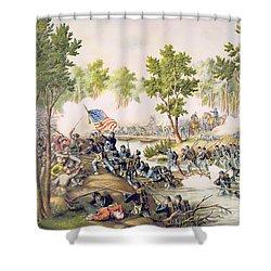 Battle Of Spottsylvania May 1864 Shower Curtain by American School