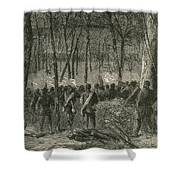 Battle Of The Wilderness, 1864 Shower Curtain by Photo Researchers