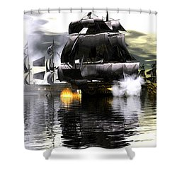 Battle Smoke Shower Curtain