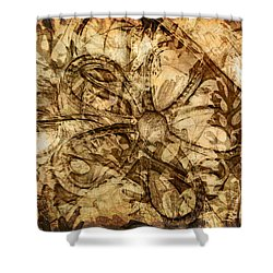 Baubles Shower Curtain by Judi Bagwell