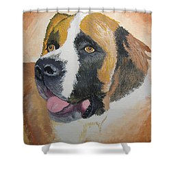 Shower Curtain featuring the painting Baxter by Norm Starks