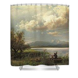 Bayern Landscape Shower Curtain by Augustus Wilhelm Leu
