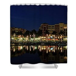 Bayfront In Naples Shower Curtain by Sean Allen