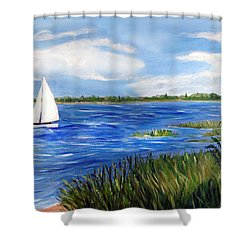 Bayville Marsh Shower Curtain