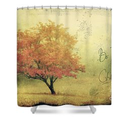 Be The Change Shower Curtain by Darren Fisher