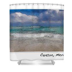 Beach Background Shower Curtain