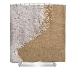 Beach Background With Sand And Foam From The Ocean Sea Shower Curtain