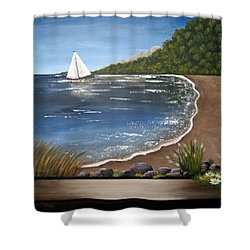 Beach Days Shower Curtain