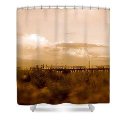 Beach Effect Shower Curtain