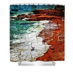 Beach Fantasy Shower Curtain by Madeline Ellis