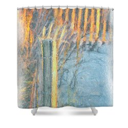 Shower Curtain featuring the photograph Beach Fence by Lynne Jenkins