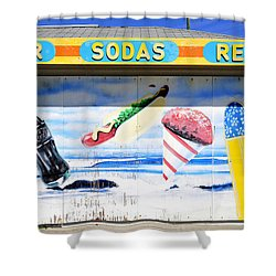 Beach Food Shower Curtain by David Lee Thompson