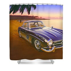 Beach Mercedes Shower Curtain by Andrew Farley