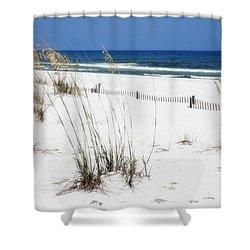 Beach No. 5 Shower Curtain by Toni Hopper