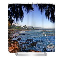 Beach On North Shore Of Oahu Shower Curtain
