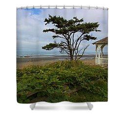 Beachside Gazebo Shower Curtain by Heidi Smith