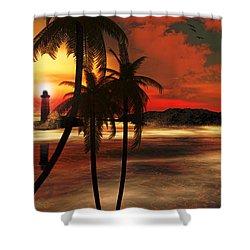 Beacon Of Light Shower Curtain by Lourry Legarde