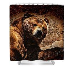 Bear Artistic Shower Curtain by Karol Livote