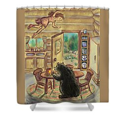 Bear In The Kitchen - Dream Series 7 Shower Curtain by Dawn Senior-Trask