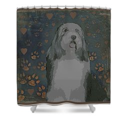 Bearded Collie Shower Curtain by One Rude Dawg Orcutt