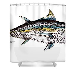 Beautiful Blue Fin Shower Curtain
