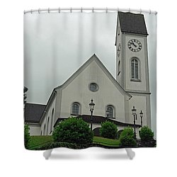 Beautiful Church In The Swiss City Of Lucerne Shower Curtain by Ashish Agarwal