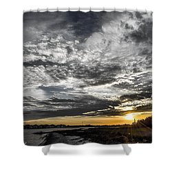 Shower Curtain featuring the photograph Beautiful Days End by Shannon Harrington