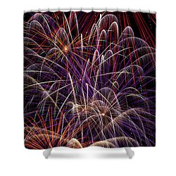 Beautiful Fireworks Shower Curtain by Garry Gay