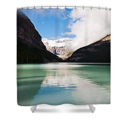 Beautiful Lake Louise Shower Curtain by Cheryl Baxter