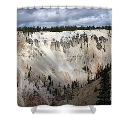 Beautiful Lighting On The Grand Canyon In Yellowstone Shower Curtain by Living Color Photography Lorraine Lynch