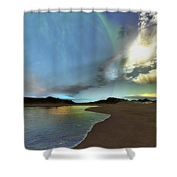Beautiful Skies Shine Down On This Shower Curtain by Corey Ford