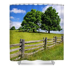 Beautiful Virginia Pasture Shower Curtain