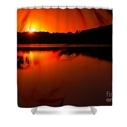 Shower Curtain featuring the photograph Beauty Looks Back by Clayton Bruster