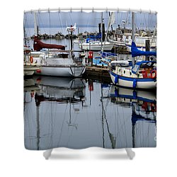 Beauty Of Boats Shower Curtain by Bob Christopher