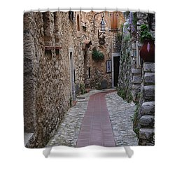 Beauty Of Eze France Shower Curtain by Bob Christopher