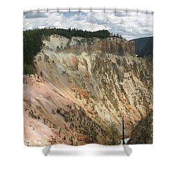 Beauty Of The Grand Canyon In Yellowstone Shower Curtain by Living Color Photography Lorraine Lynch