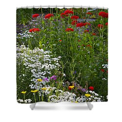 Bed Of Flowers Shower Curtain