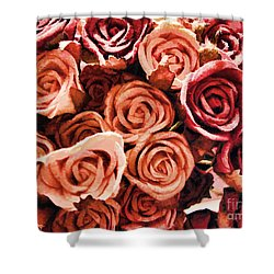 Shower Curtain featuring the photograph Bed Of Roses by Traci Cottingham