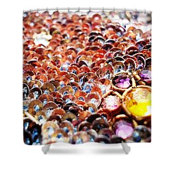 Bed Of Sequins Shower Curtain by Sumit Mehndiratta