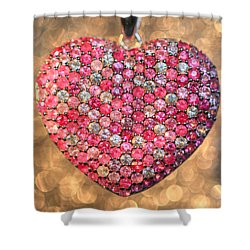 Bedazzle My Heart Shower Curtain