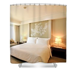 Bedroom In The Morning Shower Curtain by Setsiri Silapasuwanchai