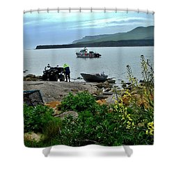 Shower Curtain featuring the photograph Been A Good Day At The Sea by Katy Mei