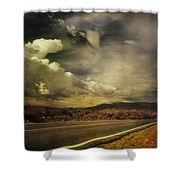Been Down This Road Before Shower Curtain by Laurie Search