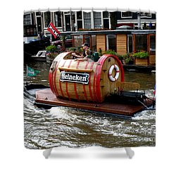 Beer Boat Shower Curtain